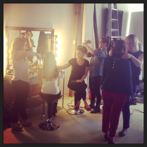 The Beauty Team working their magic behind the scenes.