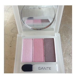 SANTE rose eyeshadow trio No. 1
